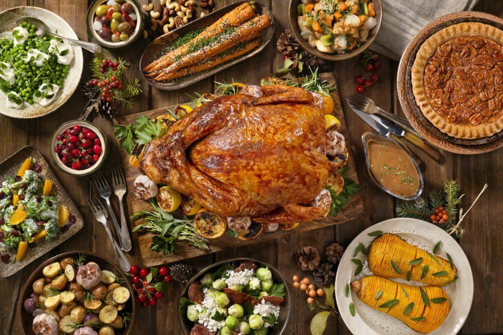 Delicious Thanksgiving spread