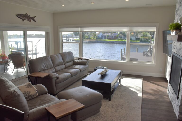 Living room overlooking St. Pete canal