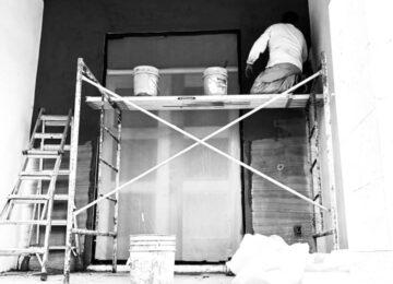 Stucco work at new custom home