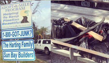 Sun Bay Builders volunteer roadside cleanup