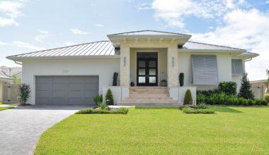 New custom home built by Sun Bay Builders