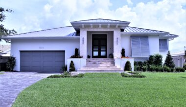 Front elevation new custom home St. Pete Sun Bay Builders
