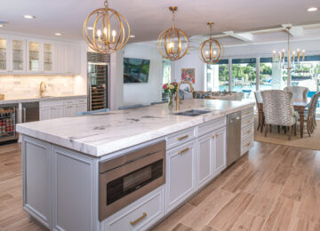 Island kitchen with open concept