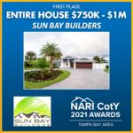 ENTIRE HOUSE 750K TO 1M Sun Bay Builders award winner