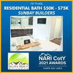 RESIDENTIAL BATH 50K-75K Sun Bay Builders award winner
