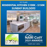 RESIDENTIAL KITCHEN 100K-150K Sun Bay Builders award winner