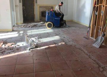 Tile removal demo Sun Bay Builders