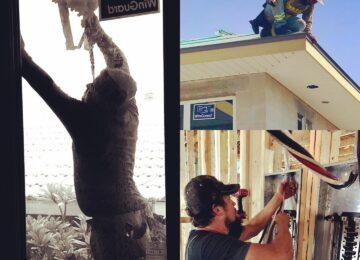 Subcontractors at work for Sun Bay Builders